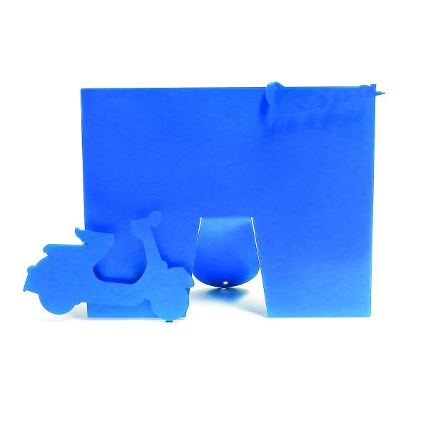 Vespa Bilderrahmen Blau