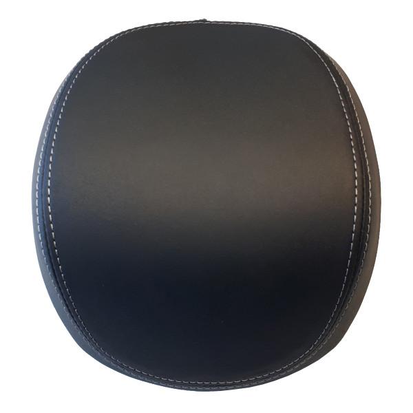 Rückenpolster schwarz mit grauer Naht für 32 Lit. TC