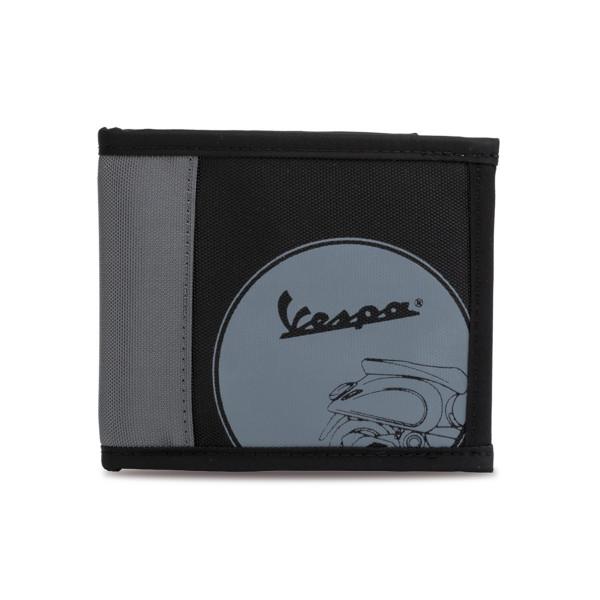 Geldbörse - Vespa Roller grau/schwarz