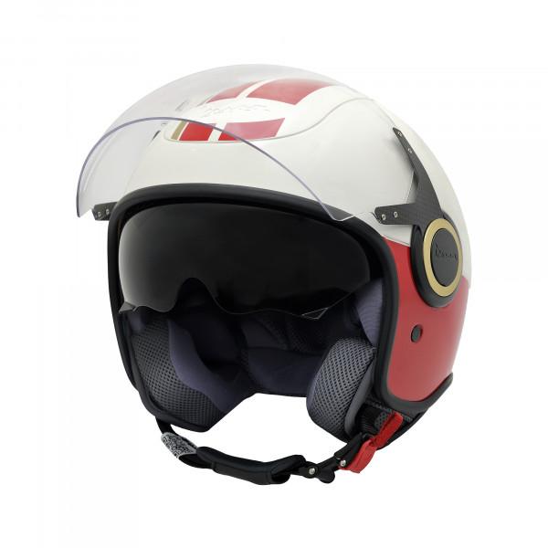 Jet-Helm VJ Racing 60s weiß/rot Gr.L
