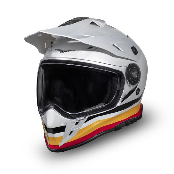 Helm Adven.V85TT weiss/gelb