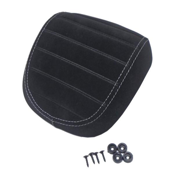 Rückenpolster schwarz in rauhleder-optik, abgesteppt mit hellgrauer Naht (OHNE weißem Keder) für 32