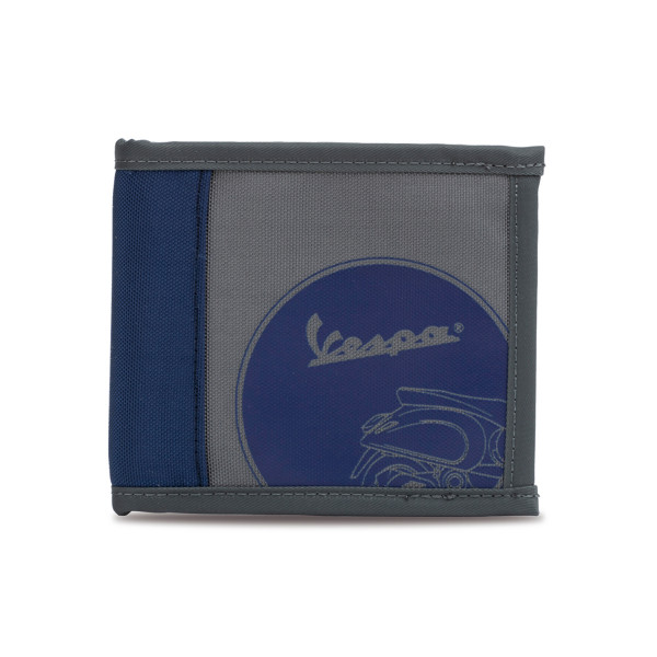 Geldbörse - Vespa Roller grau/dunkelblau