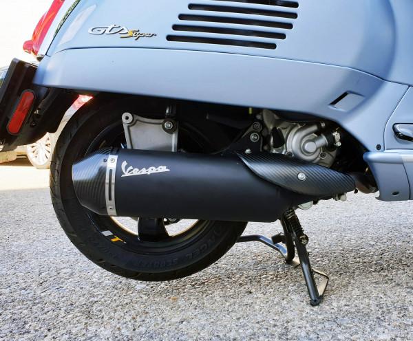Vespa Auspuff schwarz/matt für GTS 300 HPE E5