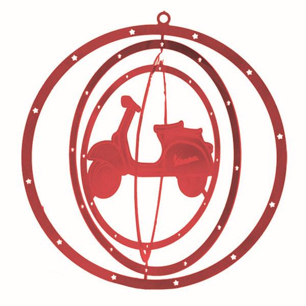 Weihnachtsdeko - Christbaumbehang 3D VESPA rot