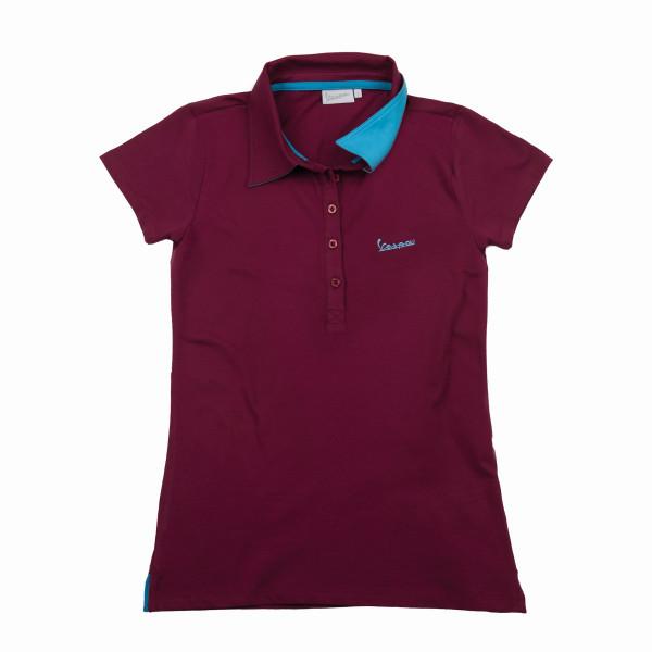 """Poloshirt VESPA Damen """"VESPA LOGO"""" bordeux Gr.L"""