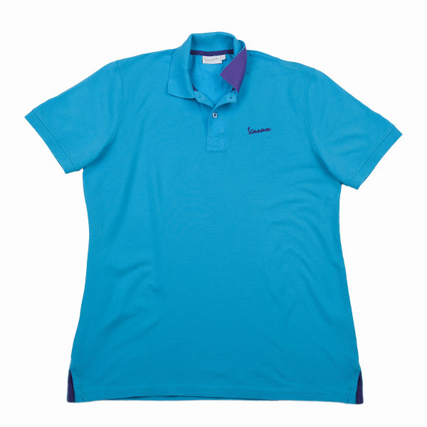 "Poloshirt VESPA Herren ""VESPA LOGO"" hellblau Gr.XL"