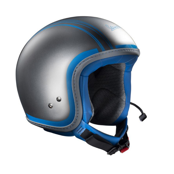 Jet-Helm Vespa Elettrica (inkl.Bluetooth-System) Grau/Hellblau
